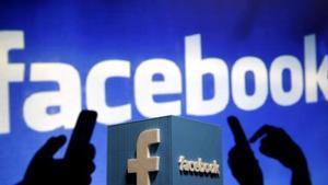 Una representación del logo de Facebook.