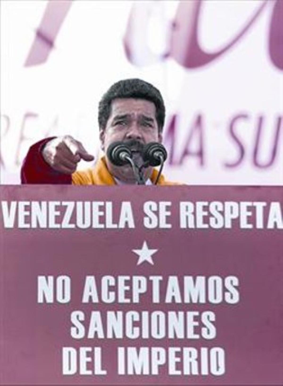 Maduro, en un acto en Caracas, el pasado lunes.