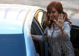La expresidenta de Argentina, Cristina Fernandez, enun tribunal en Buenos Aires.
