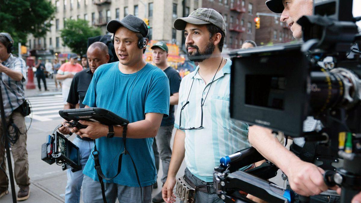 Jon M. Chu (izquierda) y Lin-Manuel Miranda, durante el rodaje.