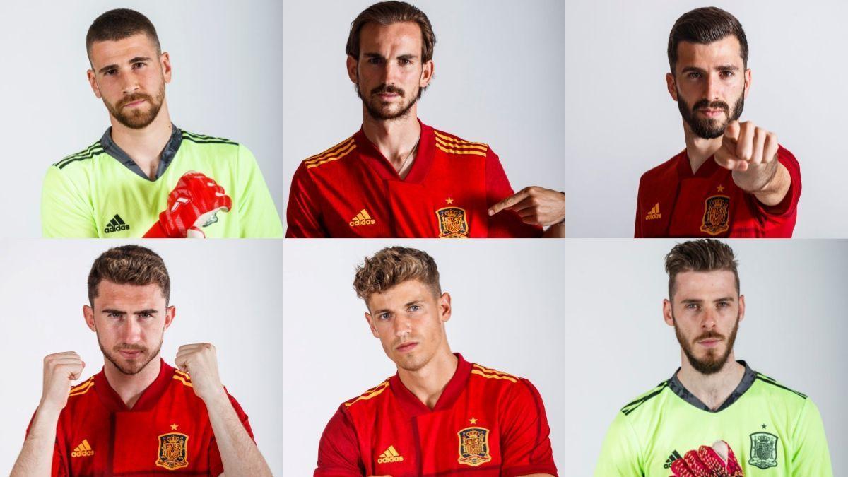 Algunos de los jugadores de la Selección Española.