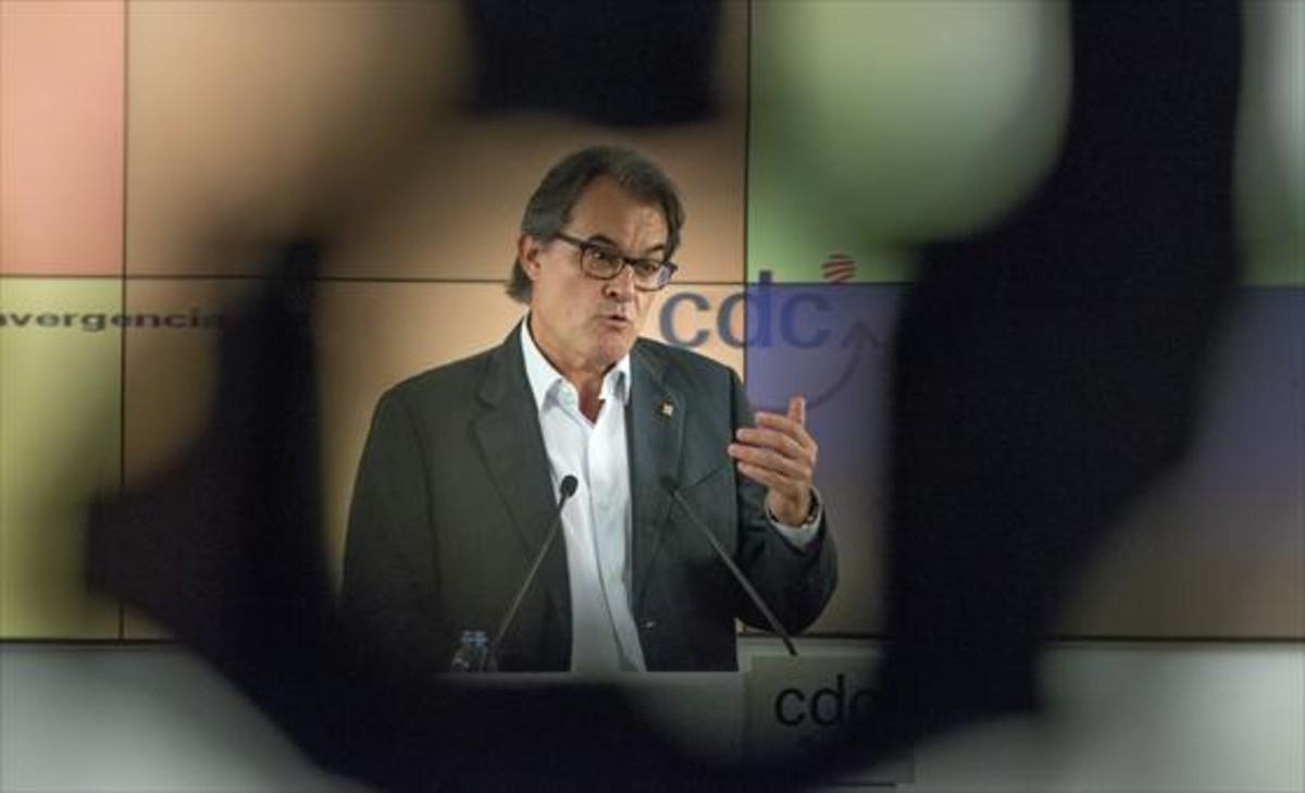 El expresidente de la Generalitat,Artur Mas.