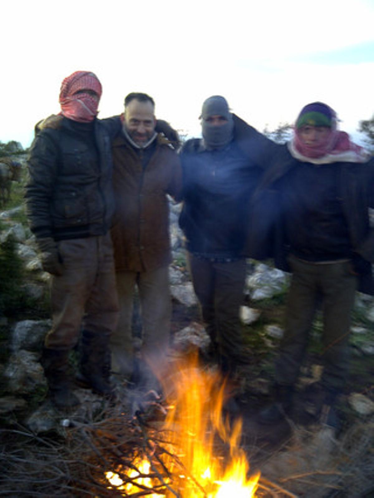 Marc Marginedas, en Siria, en la única foto sobre el terreno tomada con una Blackberry.