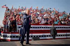Donald Trump en un evento de campaña electoral.