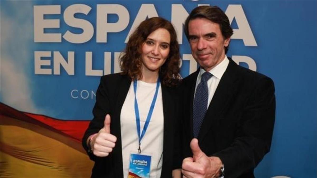 Aznar convida Ayuso a la seva Aula de Lideratge en plena desescalada