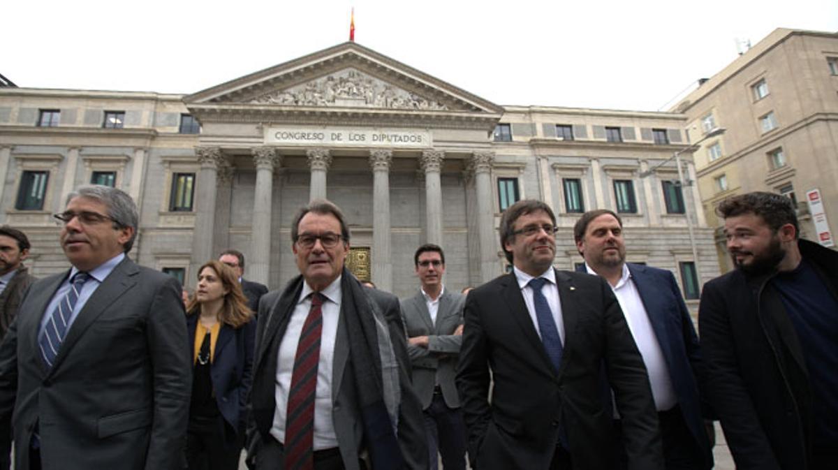 Puigdemont: Hoy el Congreso de los Diputados va a escribir una página vergonzante del parlamentarismo español