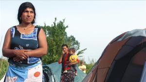 Campamento de gitanos en Roma.