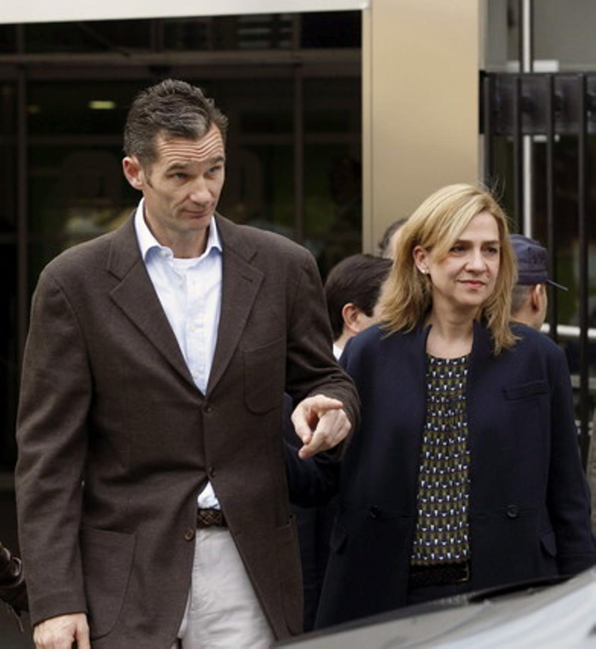 La infanta Cristina y su esposo, Iñaki Urdangarín, el 25 de noviembre pasado, en Madrid.