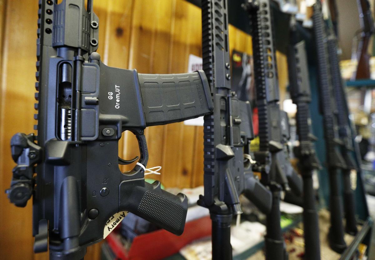 Armas de asalto en un establecimiento de Estados Unidos.