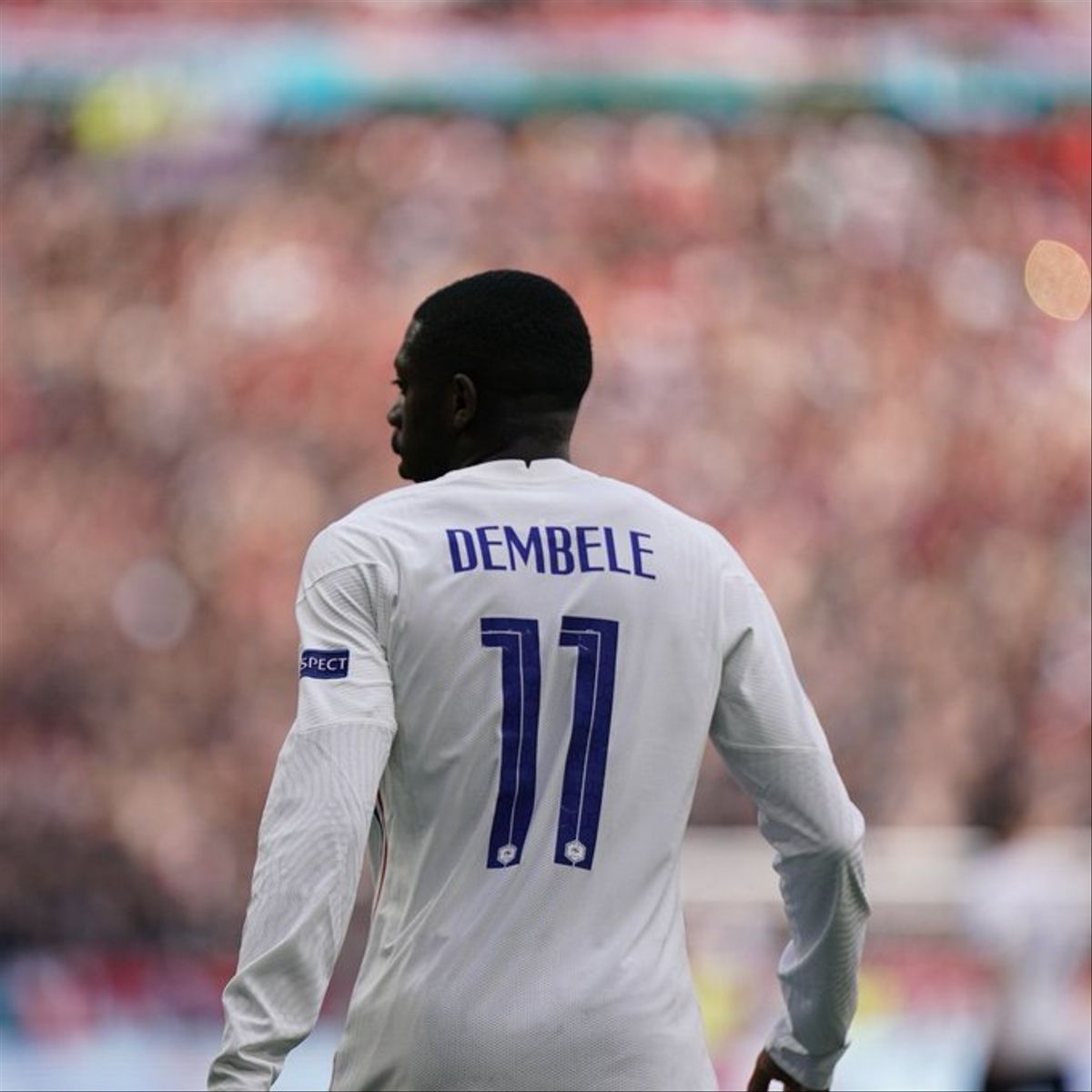Dembélé, en un partido con la selección francesa en la Eurocopa.