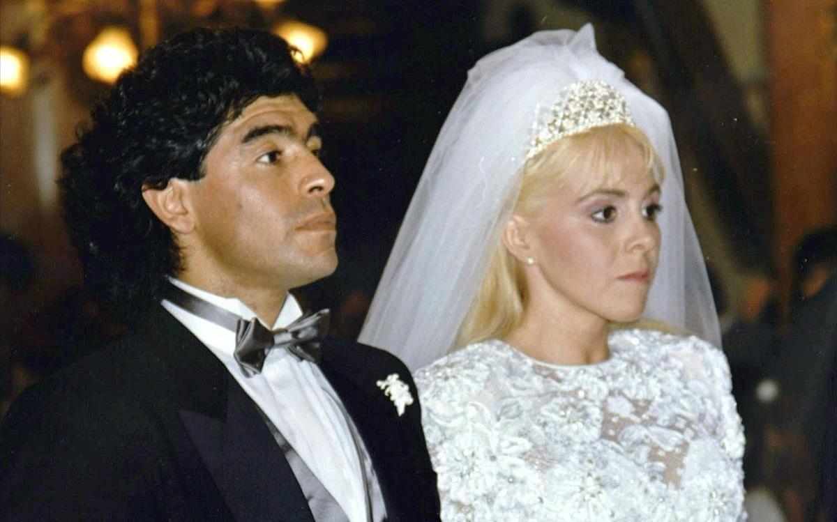 Diego y Claudia, el día de su boda en 1989.