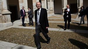 Eduardo Mendoza, en la Universidad de Alcalá antes de recibir el Premio Cervantes.