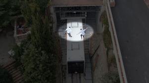 Los Mossos buscan a dos jóvenes que se grabaron sobre el funicular de Vallvidrera.