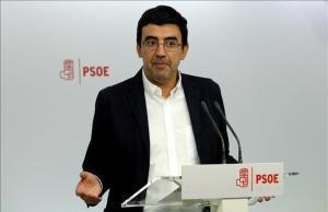 El portavoz dela gestoradel PSOE, Mario Jiménez.