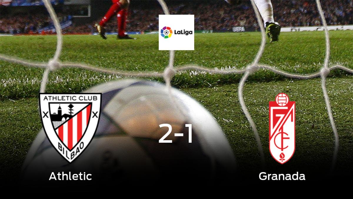 El Athletic suma tres puntos después de vencer 2-1 al Granada
