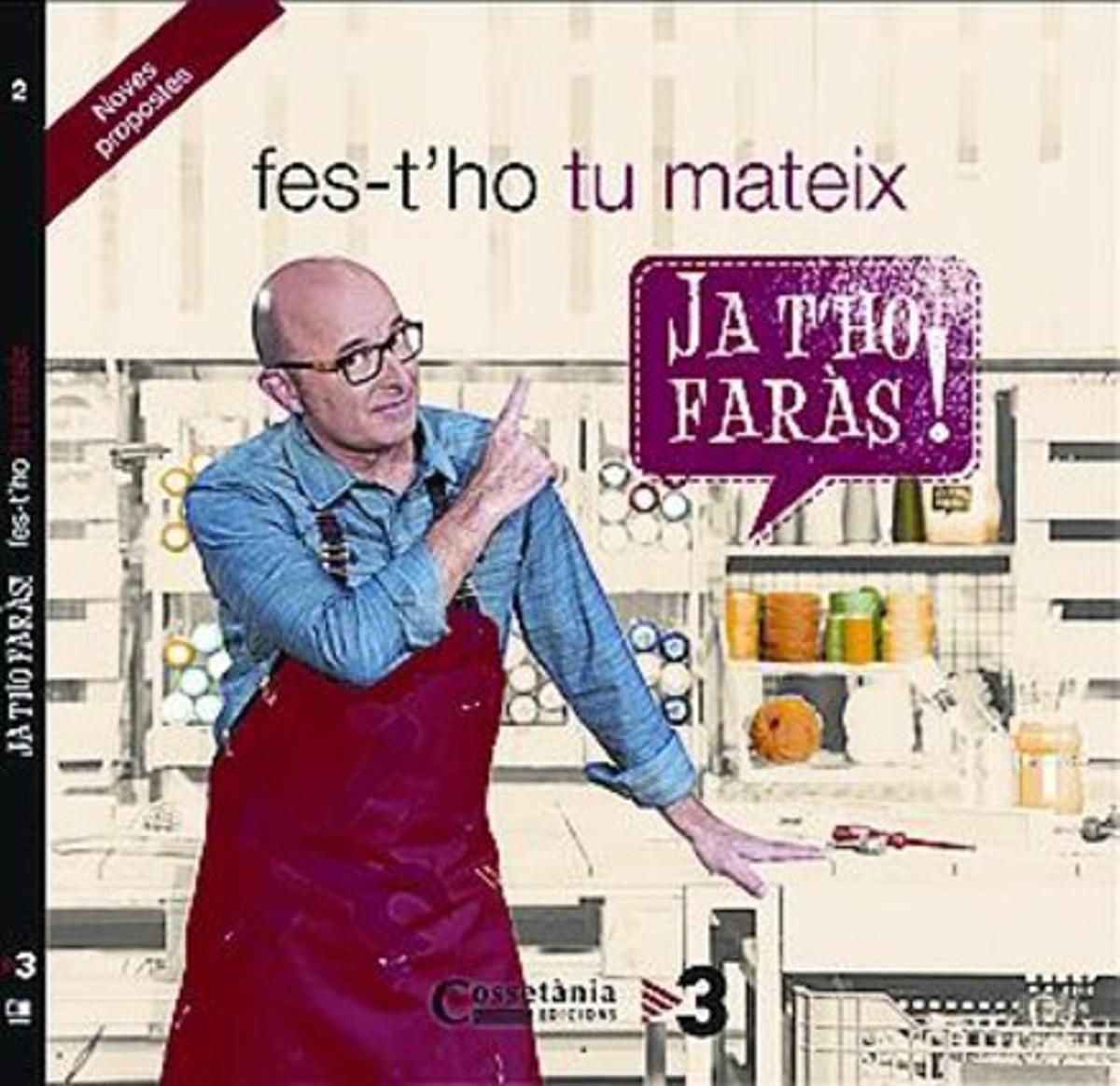 Rafel Vives, en el plató de su programa. Abajo la portada del libro de la segunda temporada.