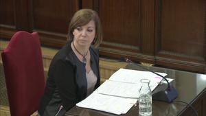 La 'exconsellera' Meritxell Borràs, durante su declaración en el Supremo.
