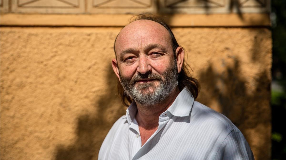 Moncho Ferrer, director de programas de la Fundación Vicente Ferrer, que fundó su padre, esta semana en Barcelona.