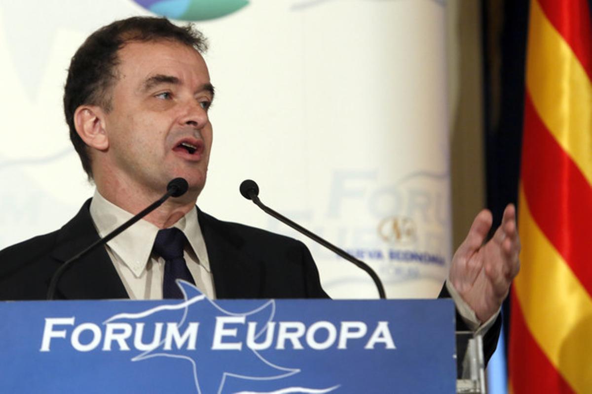 Alfred Bosch, en el coloquio organizado por el Forum Europa, este jueves en Madrid.