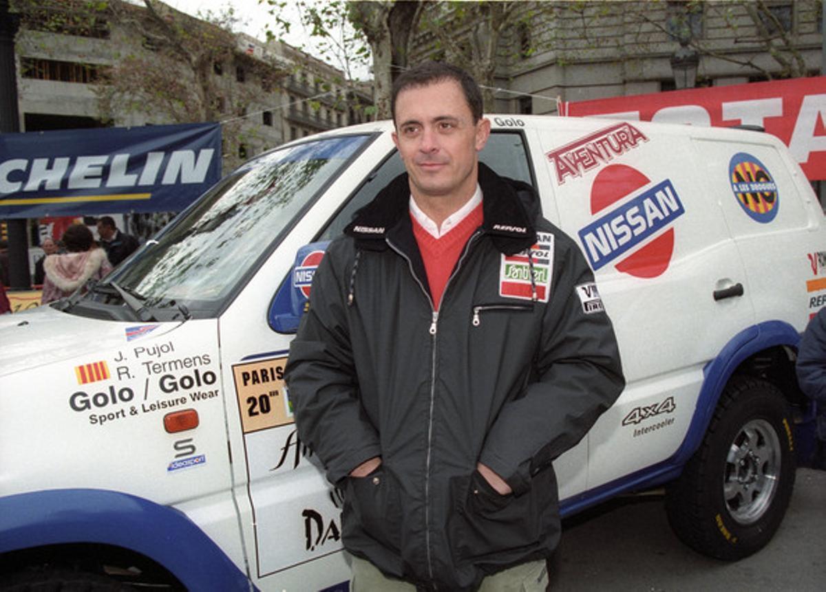 Jordi Pujol Ferrusola, en 1997, en la salida del Rally París-Dakar.