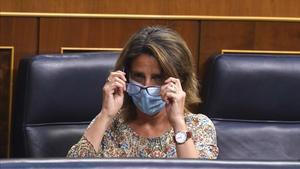 Pleno del Congreso , en la imagenlaVicepresidenta Cuarta Teresa Ribera.