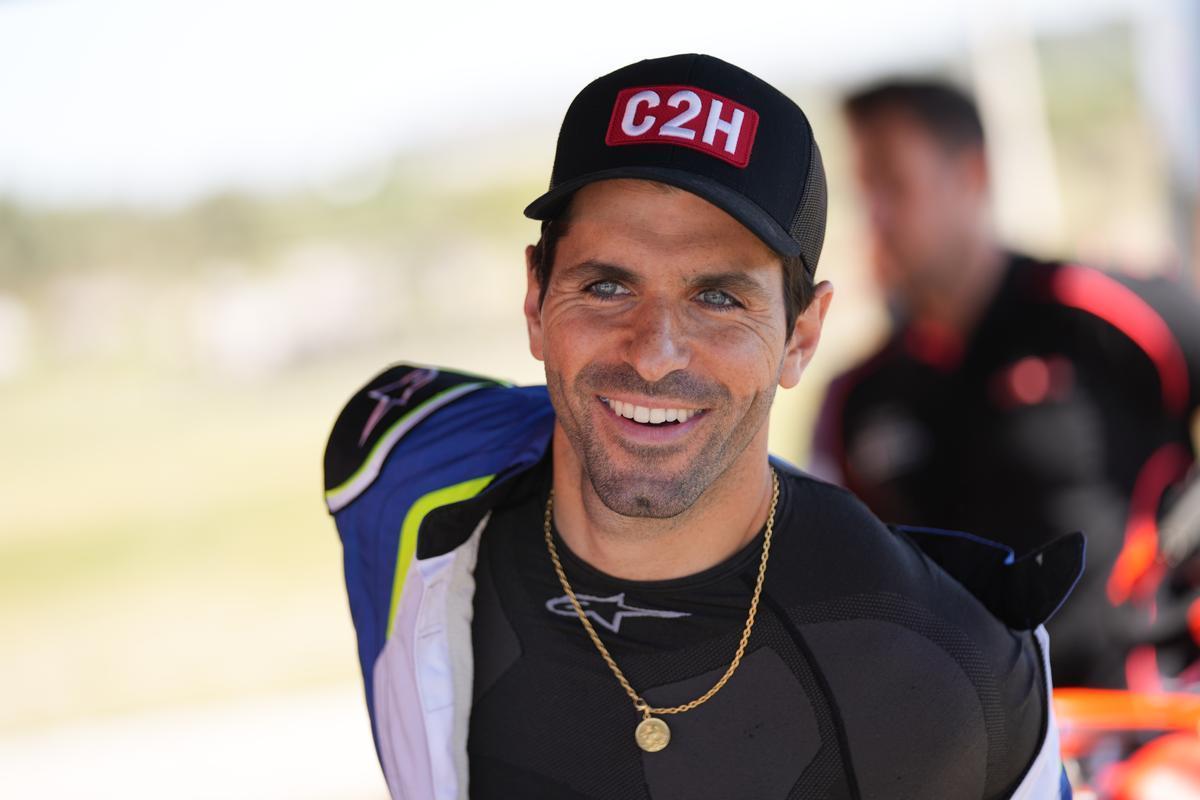 Jaime Alguersuari, hoy, en el karting del Vendrell.