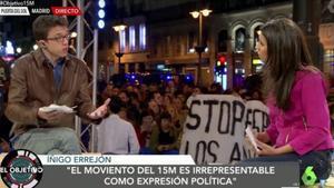 Íñigo Errejón y Ana Pastor, en el especial de 'El objetivo' desde la Puerta del Sol.