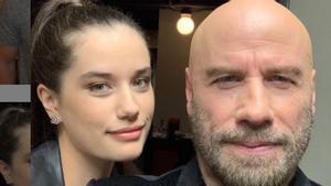 Ella Travolta junto a su padre, en una foto reciente que ha compartido en Instagram.