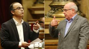 Jordi Turull y Lluís Rabell en el Parlament.