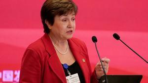 Kristalina Georgieva,consejera delegada del Banco Mundial y candidata europeo para optar a suceder a Christine Lagarde como directora gerente del FMI.