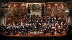 Actuación de la Orquestra Camera Musicae en el Palau de la Música.