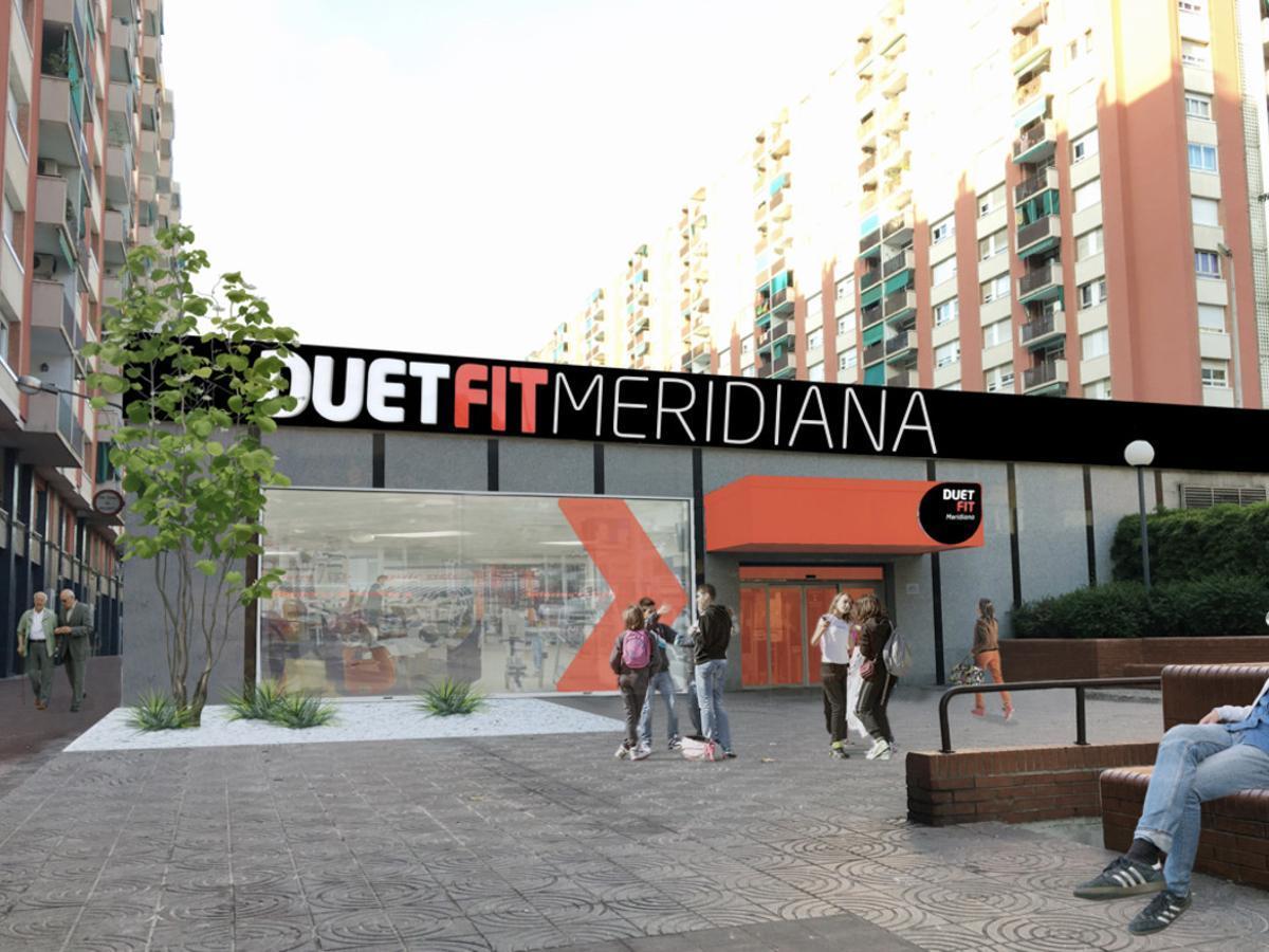 Imagen virtual de cómo será el centro Duet Fit de la Meridiana, junto al outlet de El Corte Inglés.
