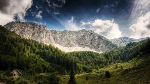 Paisaje alpino en Austria.