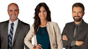 Tomàs Molina, Maria Fernández Vidal y Toni Cruanyes.