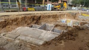 Las estructuras excavadas en la Diagonal.