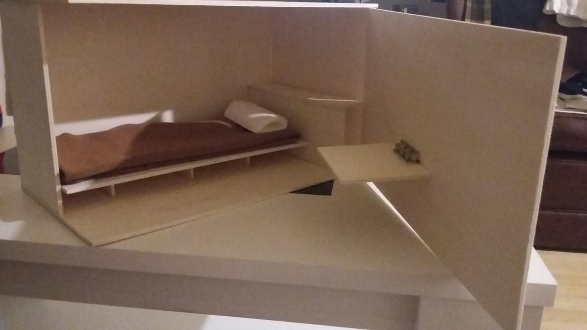 Prototipo de una de las cápsulas de los pisos colmena que una empresa trata de implantar en Barcelona.