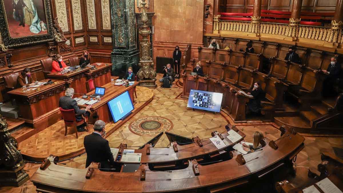 Pleno del Ajuntament de Barcelona.