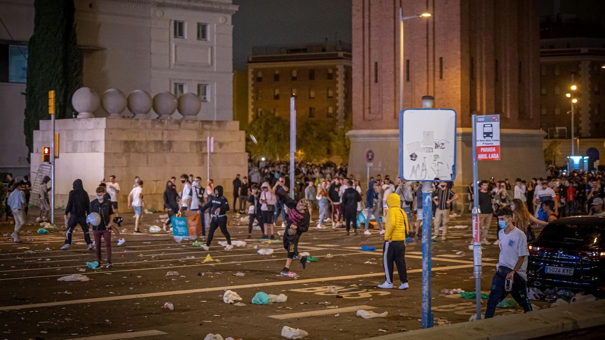 Disturbios en otro botellón en Barcelona
