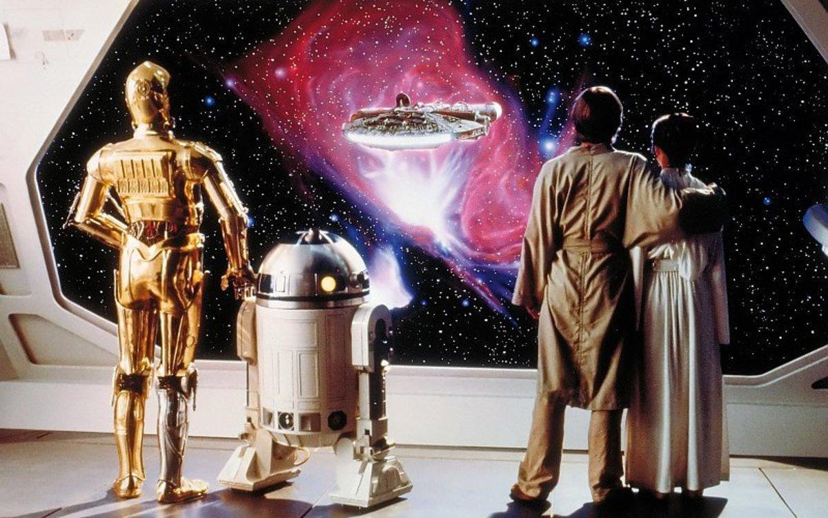 La icónica imagen final de 'El imperio contrataca', segunda entrega de la saga galáctica