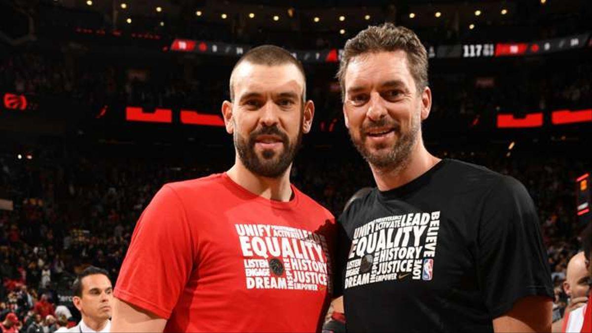 Los hermanos Gasol, en su etapa conjunta en la NBA