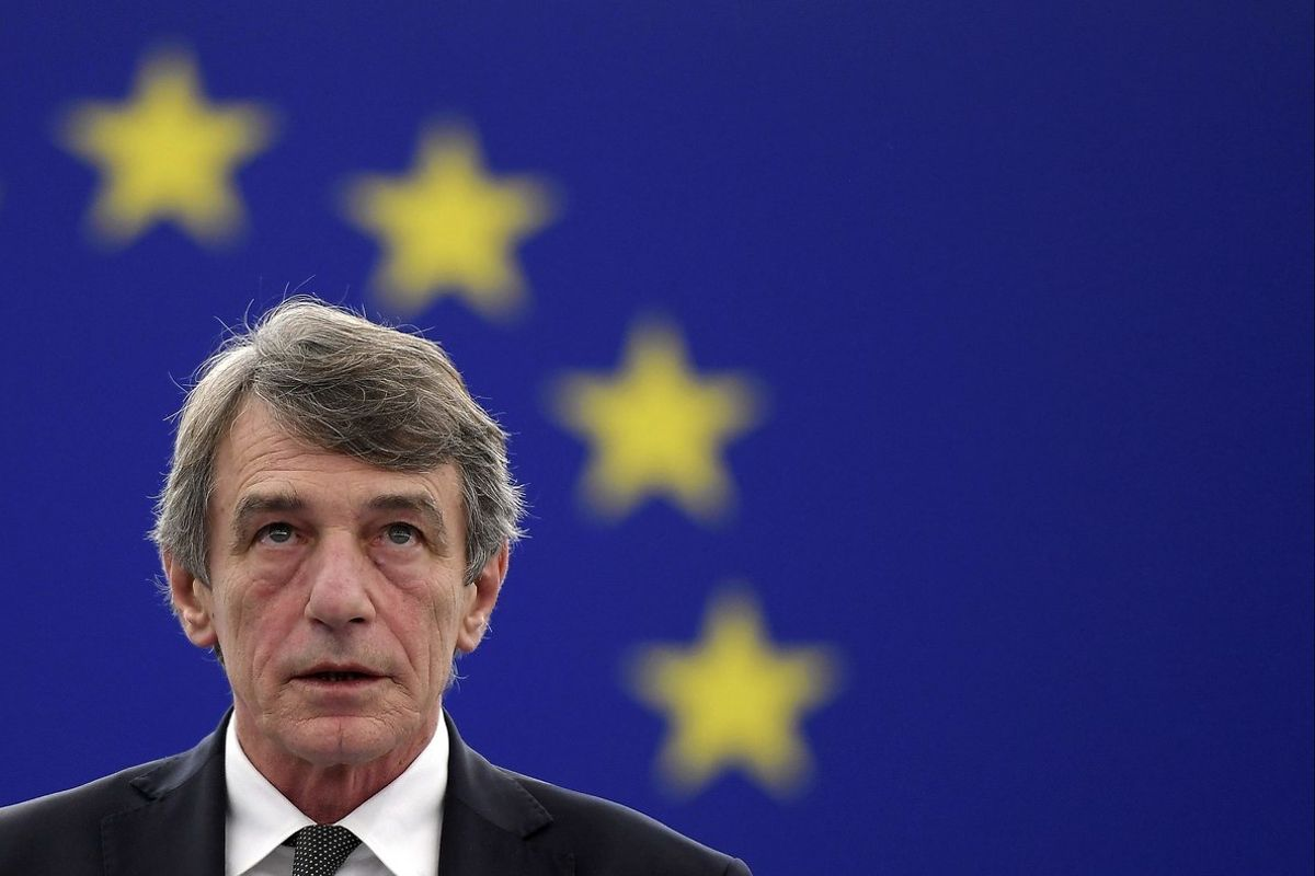 El presidente del Parlamento Europeo, David-Maria Sassoli.