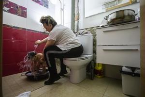 Sin luz en el barrio Font de la Pólvora de Girona: estamos abandonados