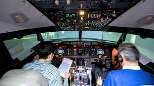 """""""Fui a un simulador de vuelo y me perdieron la maleta"""""""
