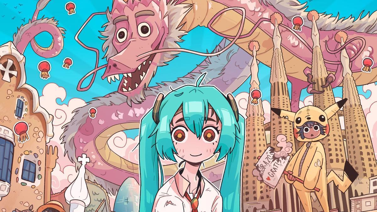 Fragmento del cartel de Carles Dalmau para el Manga Barcelona 2021.
