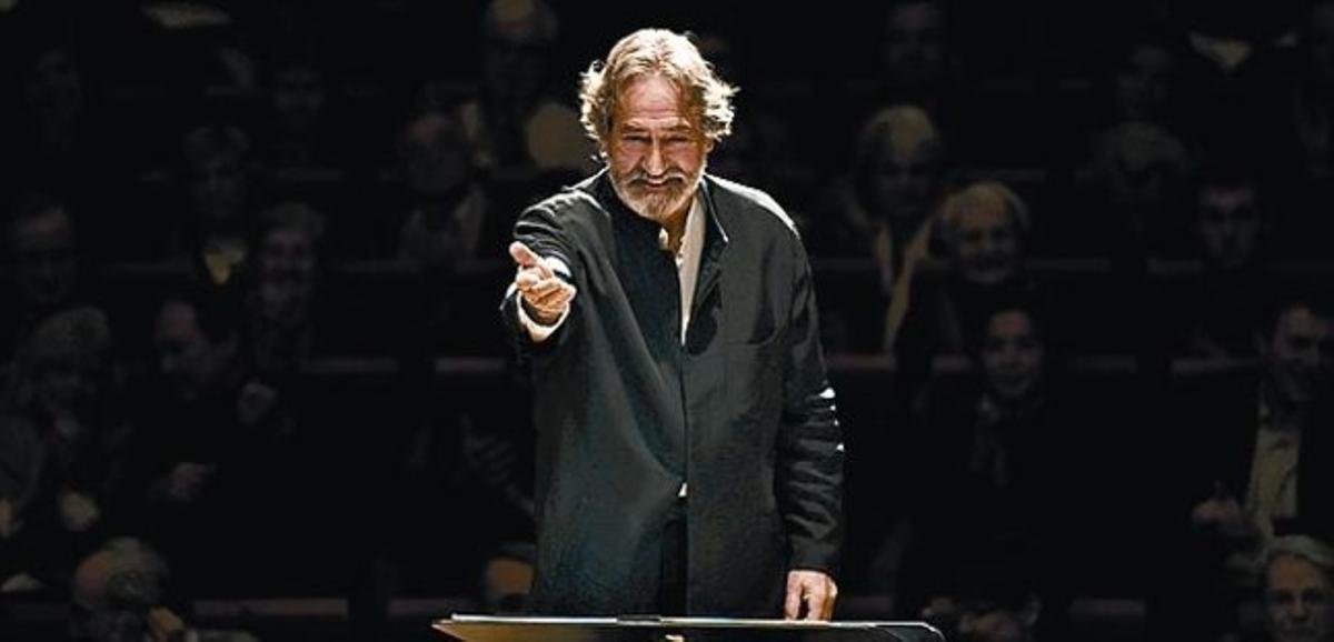 El director de orquesta Jordi Savall, durante un concierto.