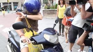 Mireia Pujol Ferrusola, ante el domicilio de sus padres, el pasado 5 de septiembre en Barcelona.