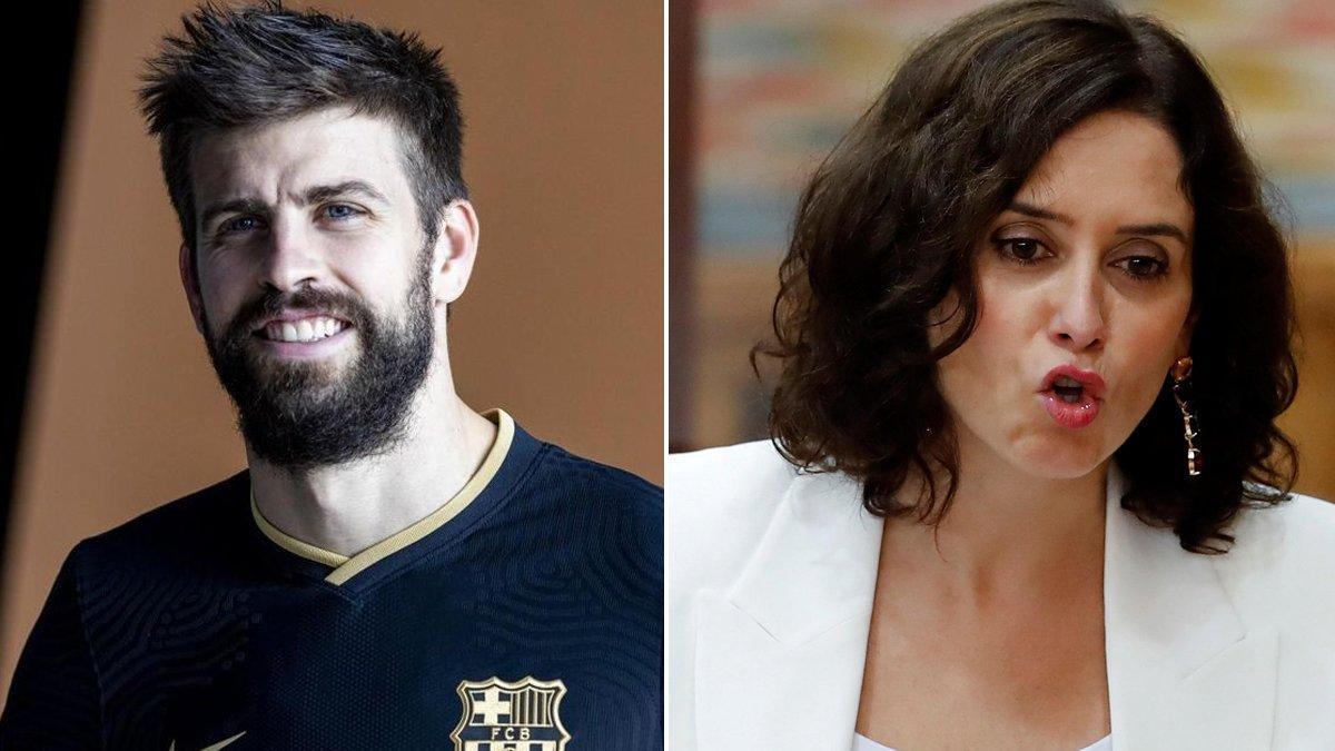 Gerard Piqué e Isabel Díaz Ayuso.