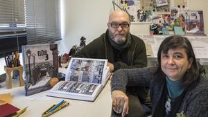 Miguel Ángel Giner y Cristina Durán, en su estudio de València, el año pasado.