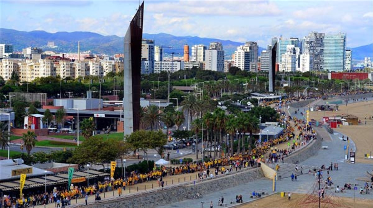 La Via Catalana des de l'aire