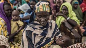 Mujeres desplazadas por la violencia de Boko Haram en la zona del lago Chad.